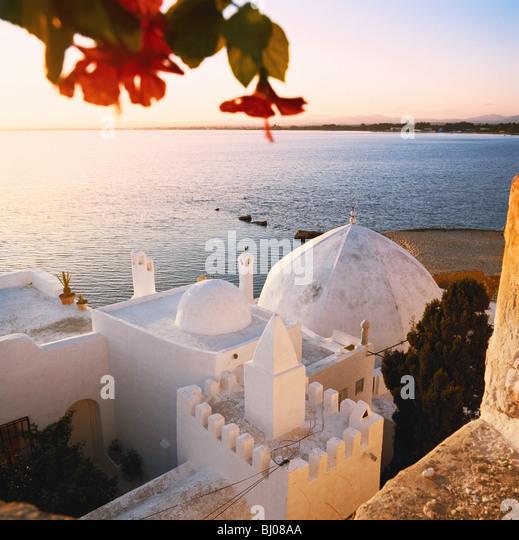 Hammamet sunset, Tunisia, North Africa - Stock Image