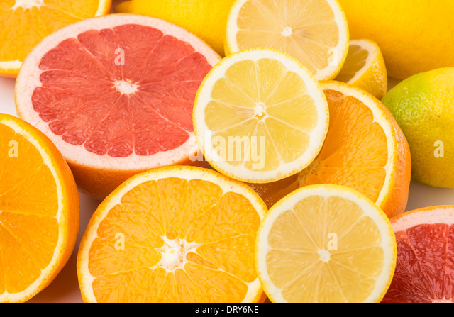 Oranges,grapefruit and lemons - Stock Image