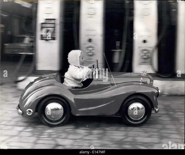 Apr. 17, 2012 - She is the ''Fastest young lady'' in Penrith!, The half pint sized motorist; The - Stock Image