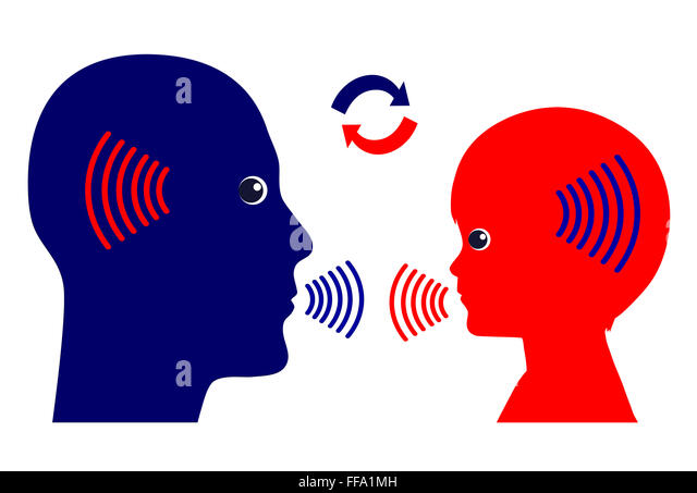 Communication Pattern with Kids - Stock Image