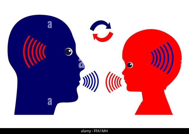 Communication Pattern with Kids - Stock Image