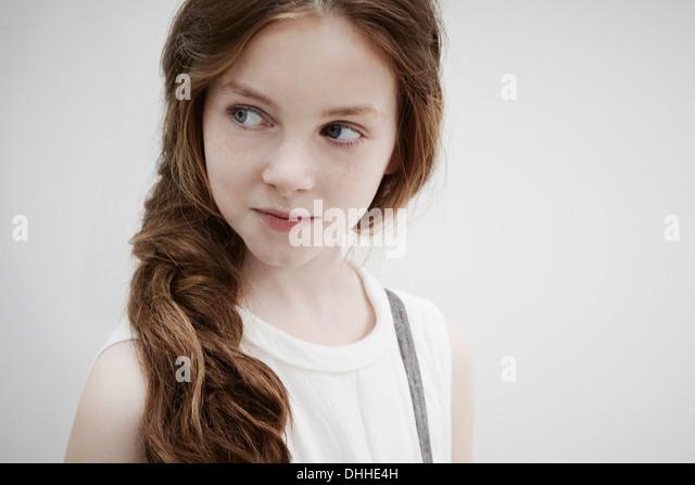 Girl posing for camera - Stock Image