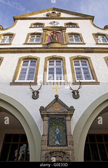 historic twon hall, Brilon, Sauerland, Germany - Stock Image