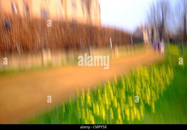 Impressionist image of Cambridge - Stock Image