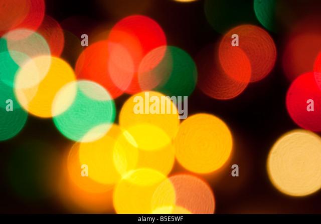 Christmas lights abstract design wallpaper - Stock Image