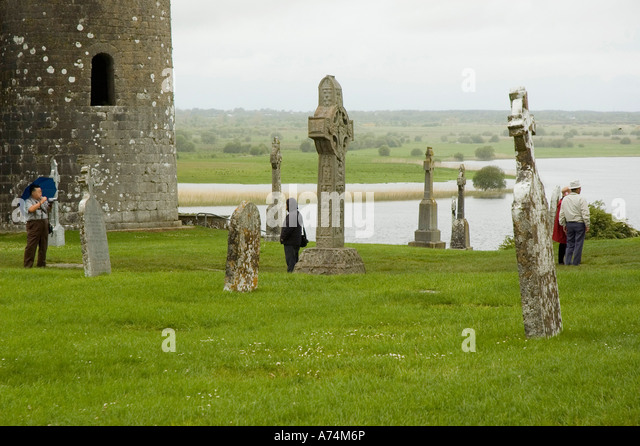 IRELAND County Offaly Clonmacnoise Monastery of Clonmacnoise - Stock Image