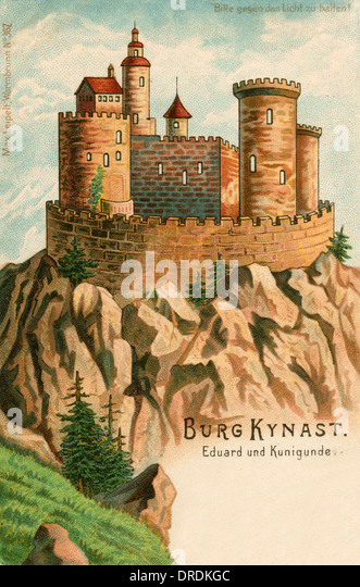 Kunigunde Legend at Chojnik Castle (Kynast) - Stock Image