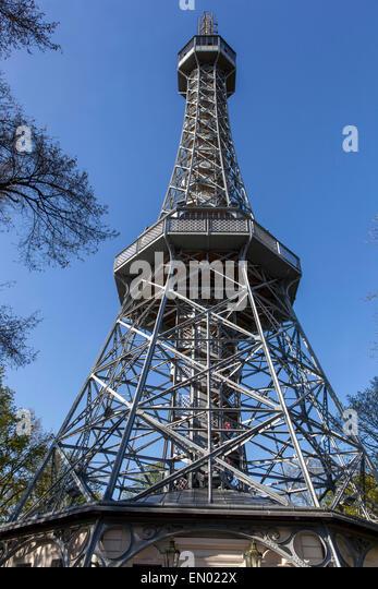 Petrin Hill, Lookout tower, Prague, Czech Republic - Stock Image