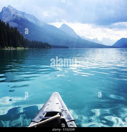 Canoeing in the beautiful Rocky Mountains! - Stock-Bilder