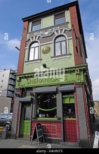 Shenanigans Pub,McDonalds Alehouse,Smithfield St,Liverpool,Merseyside, UK - Stock Image