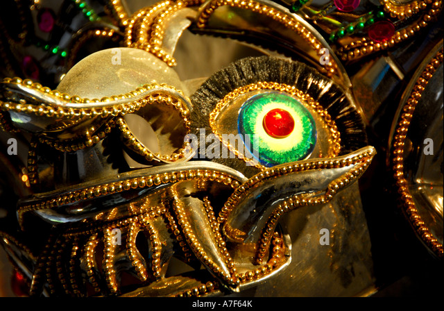 Chile wine country Colchagua Valley carnival mask - Stock Image