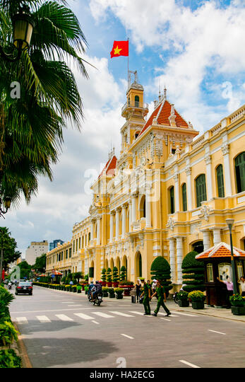 People's Committee Building, Saigon, Vietnam - Stock Image