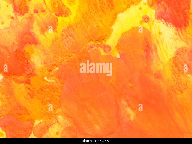 orange yellow watercolor wash background - Stock-Bilder