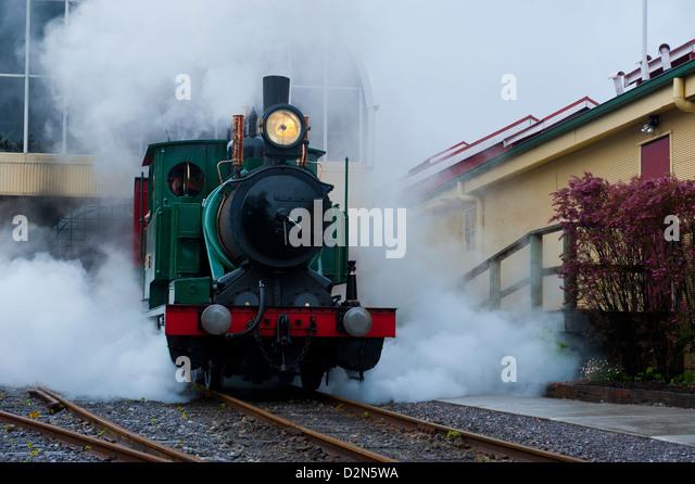 Old steam train, Queenstown, Tasmania, Australia, Pacific - Stock Image