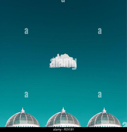 Single Cloud Over Domes - Stock Image