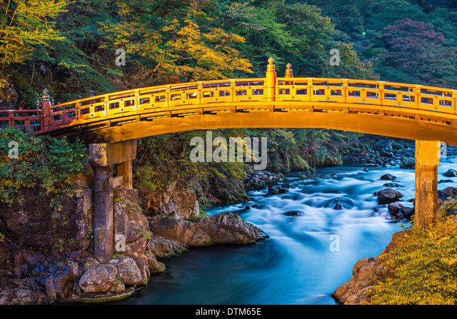 Nikko, Japan at Shinkyo bridge. - Stock-Bilder
