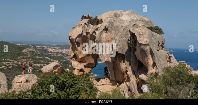 Italy Sardinia Boccia dell Elefante Elephant rock - Stock Image