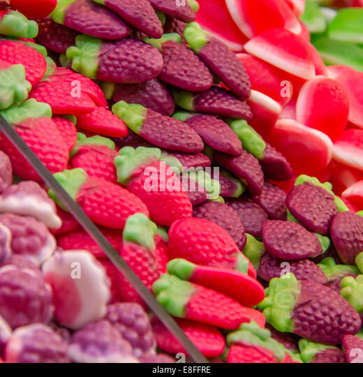 Close up of confectionary - Stock Image