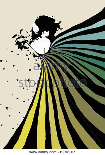 Flirtatious woman - Stock Image