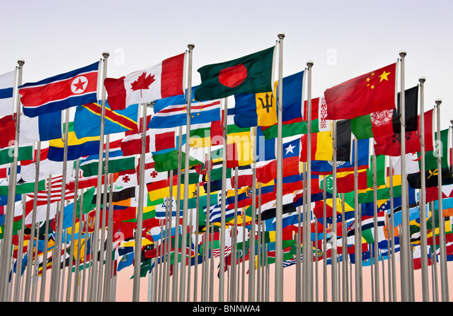 China Shanghai Expo world exhibit flags flags international travel traveling tourism vacation holidays - Stock-Bilder