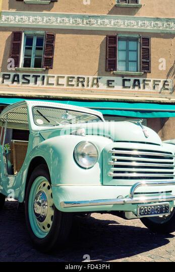 Fiat Topolino Jolly beach automobile 1954 - Stock Image