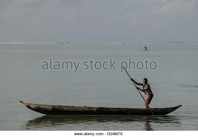 Madagascar,Canoe on Indian Ocean.©William Stevens - Stock-Bilder