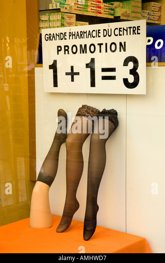 Display promotion stock photos display promotion stock for 1 plus 1 equals window