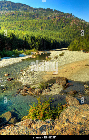 Taylor River, Vancouver Island, British Columbia, Canada - Stock Image