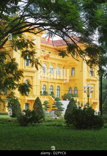 The Presidential Palace, Hanoi, Vietnam, Indochina, Southeast Asia, Asia - Stock Image