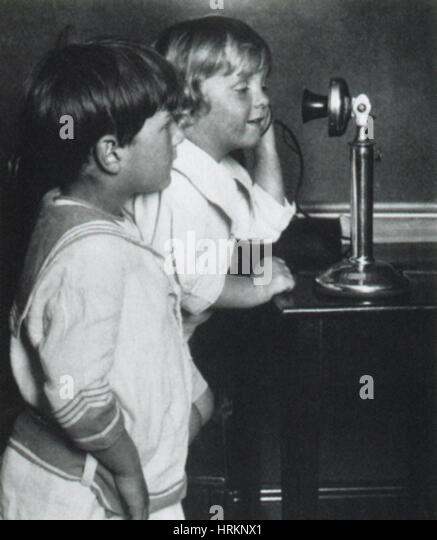 Early Telephone - Stock Image