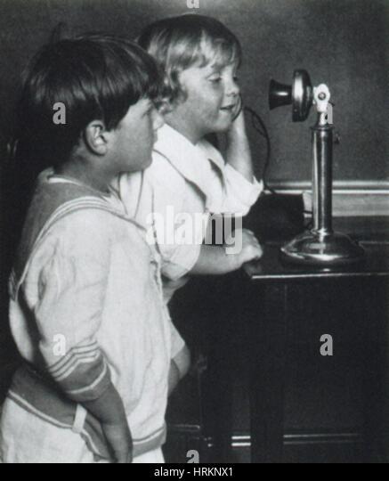 Early Telephone - Stock Image