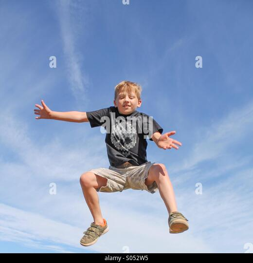 Bounce with joy - Stock Image