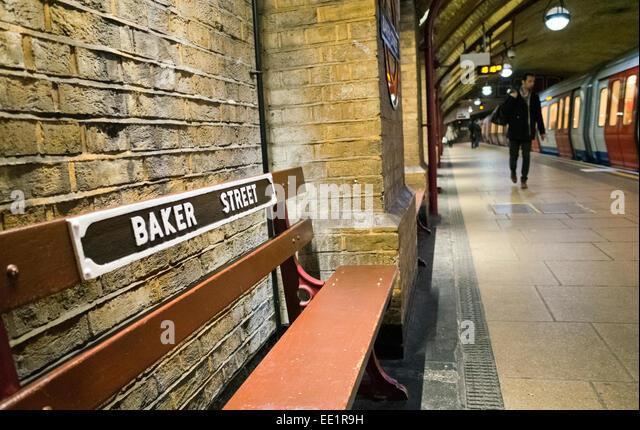 Baker Street station in Britain - Stock Image