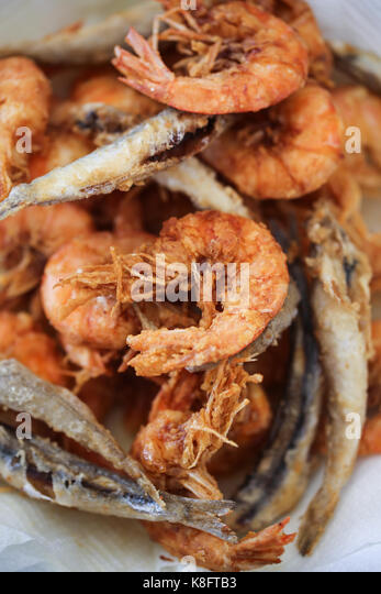 Fried fishes - Stock Image