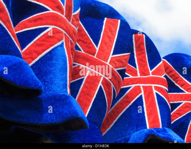 Union Jack Souveniers Westminster London England - Stock Image