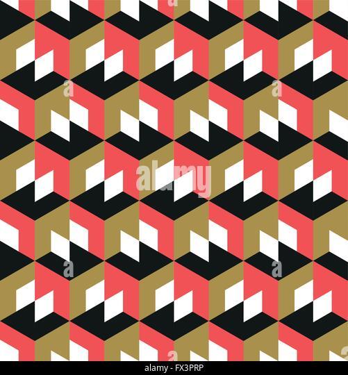 Seamless Geometric Pattern. Abstract geometric background design. Vector illustration. - Stock Image