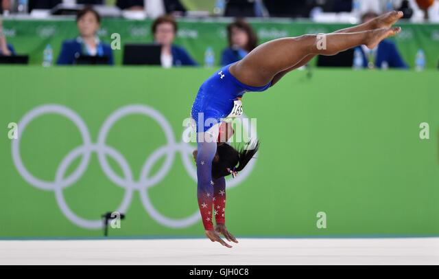 Rio de Janeiro, Brazil. 16th August, 2016. Simone Biles (USA). Womens individual floor exercise. Artistic Gymnastics. - Stock-Bilder