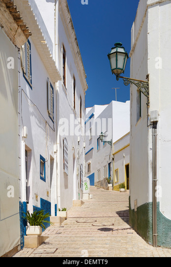 Albufeira old town, Algarve, Portugal - Stock-Bilder