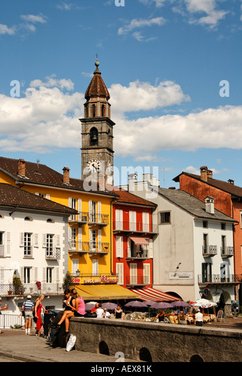 Switzerland Ticino Ascona - Stock Image