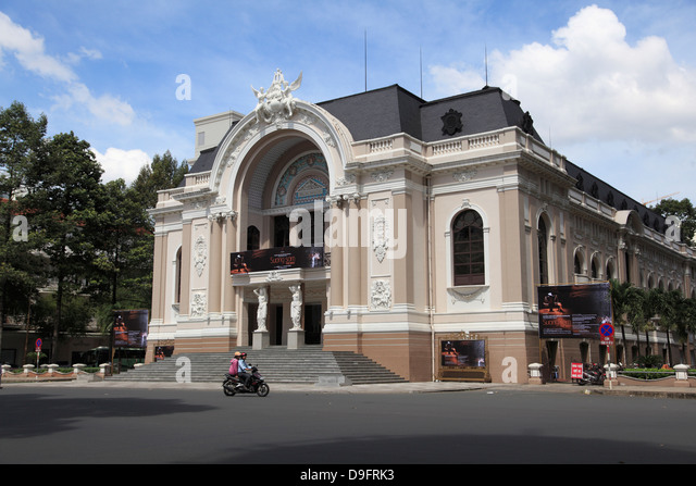 Municipal Theatre, Opera House, Ho Chi Minh City (Saigon), Vietnam, Indochina, Southeast Asia - Stock-Bilder