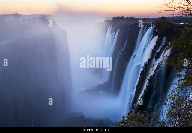Victoria Falls, Zimbabwe/Zambia - Stock Image