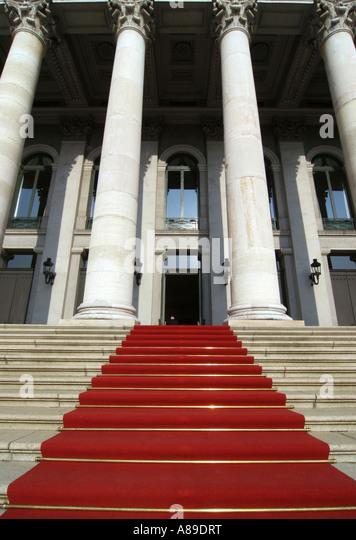 Red carpet, Nationaltheater, Munich, Bavaria, Germany - Stock-Bilder