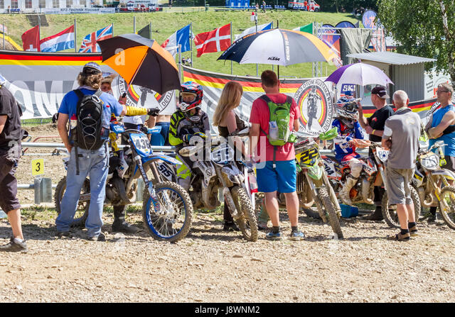 Motocross Kleinhau - 2nd heat Senior 85ccm DAM Meisterschaft - 27th of May 2017 - Kleinhau, Hürtgen, North - Stock Image