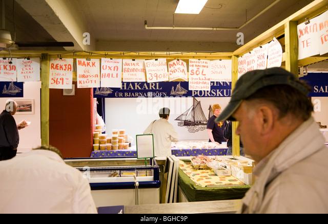 Kolaportid flea market stock photos kolaportid flea for Fish market reykjavik