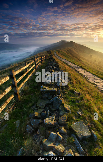Losehill Pike Edale Valley Derbyshire UK - Stock Image