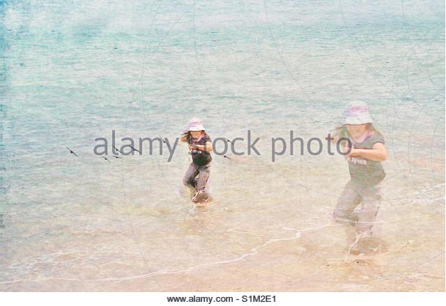 girl at the Beach' - Stock Image