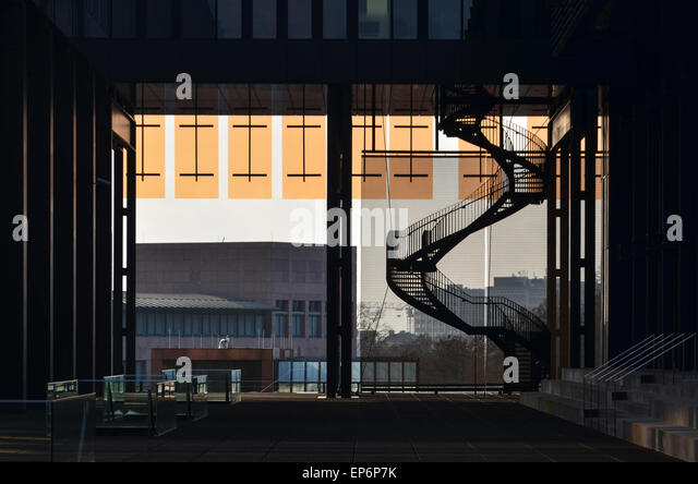 Architecture of the Court of Justice of the European Union, in European Quarter, Kirchberg, Luxembourg - Stock Image