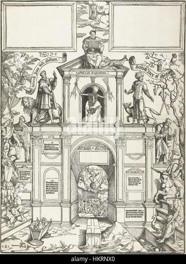 Cornelis Anthonisz. - Steps of Life (ca. 1550) - Stock Image