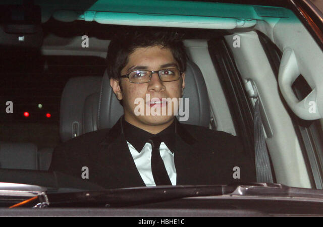 Actor Aamir Khan?s son Junaid arrives wedding ceremony of Imran Khan and Avantika Malik at 24 Pali Hill bungalows - Stock-Bilder