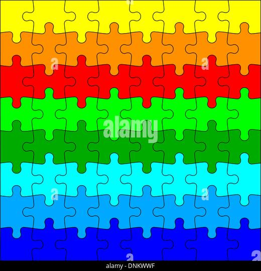 Background Vector Illustration jigsaw puzzle - Stock Image
